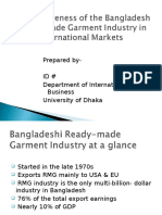 Bangladeshi Ready-made Garment Industry at a Glance