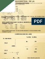 Estequiometria de La Comustion. Clase 1, 2014