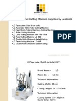Tape & Label Cutting Machine PPT