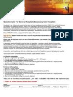 Nomination Form for General Hospitals Secondary Care Hospitals 2012
