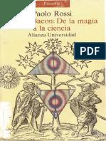 FRANCIS BACON (DE LA MAGIA A LA CIENCIA) - Paolo Rossi - (1990).pdf