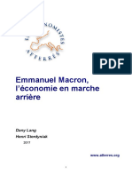 Emmanuel Macron, l'économie en marche arrière, mars 2017