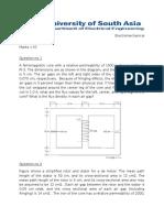 Quiz No 1 Electromechanical Systems