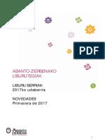 2017ko udaberriko liburu berriak