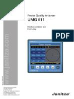 UMG511 Modbus Address List English