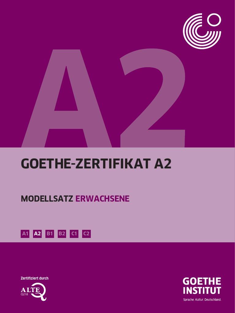 Goethe Zertifikat A2 Modellsatz Erwachsene