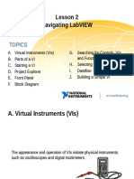 Lesson 2 - Navigating LabVIEW