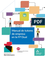 2017 Manual de Tutores de Empresa en La FP Dual