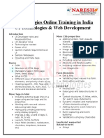 UI Technologies Online Training in India by Experts