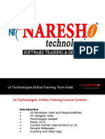 Online UI Technologies Training in India
