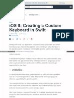 Ios 8 Creating a Custom Keyboard