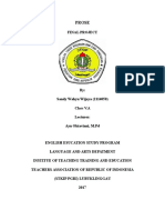 ANovel Analysis by Sandy Wahyu Wijaya(2114050)