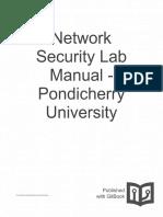 Network Security Lab Manual Pondicherry Universit