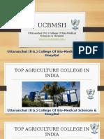Top Agriculture College in Dehradun,Uttarakhand,India