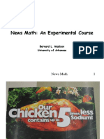 New Math, An Experimental Course