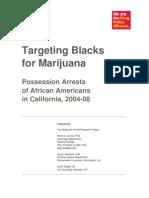 Targeting Blacks for Marijuana