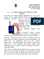 Pronk Technologies introduces the OxSim Flex™ SpO2 Simulator