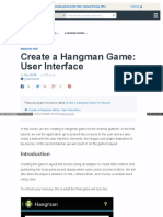 Create a Hangman Game User Interface