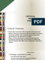 Critical Media Theory2016