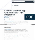 Create a Weather App With Forecast