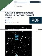 Create a Space Invaders Game In Corona