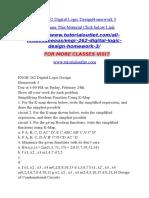 ENGR 262 Digital Logic DesignHomework 3