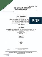 SENATE HEARING, 106TH CONGRESS - NATIVE HAWAIIAN EDUCATION REAUTHORIZATION