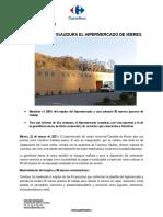 Nota de prensa. Apertura Carrefour Mieres. Marzo 2017.