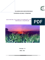 Ghid Bune Practici Utilizare Produse de Protectie Plante