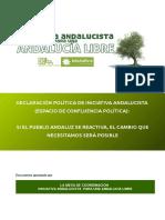 Declaración Política de Iniciativa Andalucista (Espacio de confluencia política)