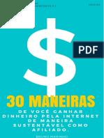 30 Maneiras Sustentaveis de Ganhar Dinheiro Pela Internet