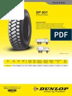 Dunlop TIS Sheets TruckSP931