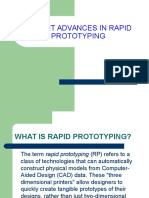 Recent Advances in Rapid Prototyping