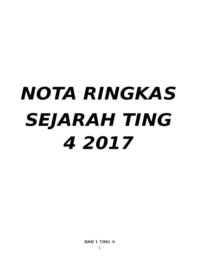 Nota Gemilang Sejarah Spm 2017 Grup Sejarah Spm