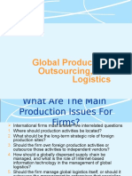 Outsourcing and Logistics