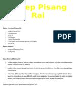 Resep Pisang Rai