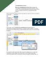 Crear El Análisis de Sensibilidad en Excel