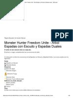 Monster Hunter Freedom Unite - Árbol Espadas Con Escudo y Espadas Duales - ElOtroLado
