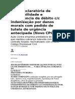Ação Declaratória de Inexigibilidade e Inexistência de Débito c