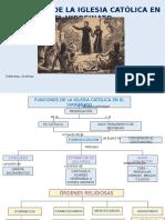 Funciones de La Iglesia Católica en El Virreinato