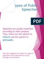 Types of Public Speeches
