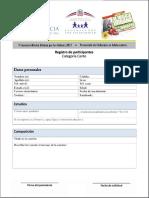 Formulario de registro de participantes | Categoría Canto