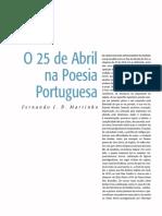 o 25 de abril na poesia portuguesa