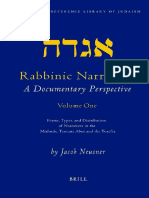 Jacob Neusner Rabbinic Narrative a Documentary Perspective - Volume One Forms, Types and Distribution of Narratives in the Mishnah, Tractate Abot, And the Tosefta
