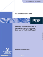 ISA - TR50.02 Part 9-2000 Fieldbus Standard for Use in Industrial Control Systems User Layer Technical Report