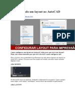 Configurando Um Layout No AutoCAD
