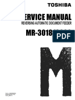 Toshiba Rev. Automatic Document Feeder MR-3018-3020 Parts and Service Manual