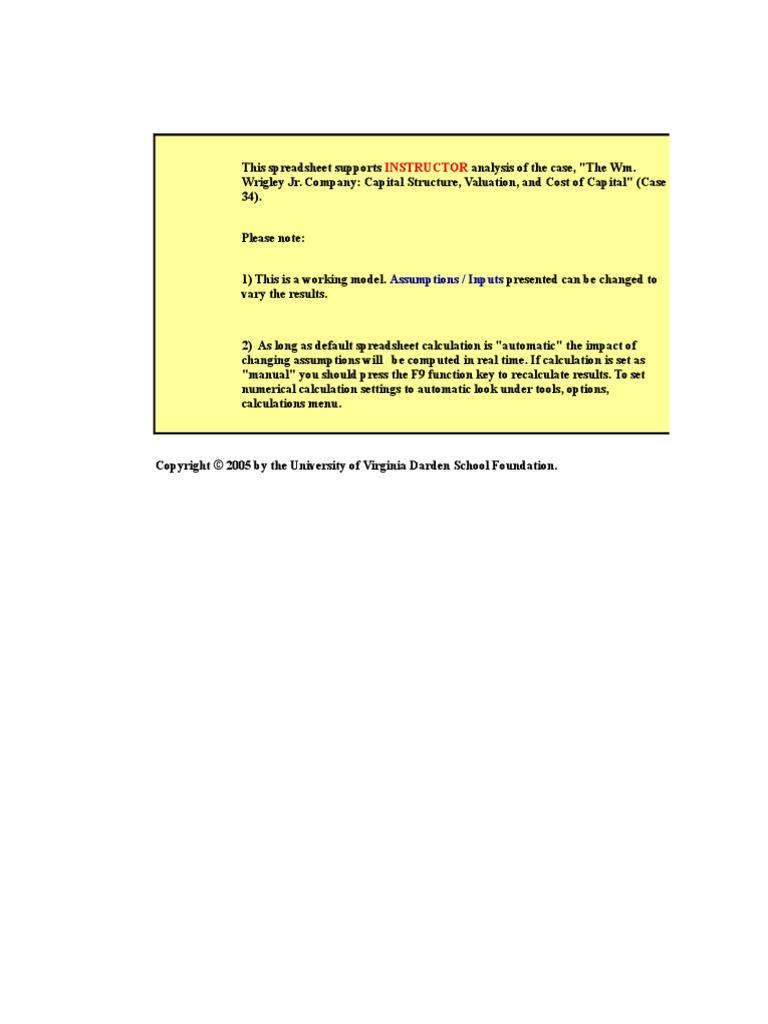 wm wrigley jr company case study solution