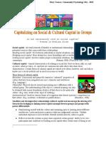 Social & Cultural Capital Tip Sheet
