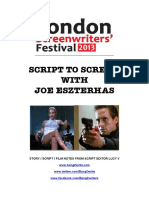 Script to Screen With Joe Eszterhas Notes